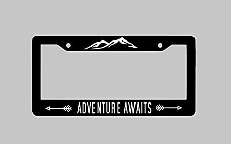 leisure MART Custom License Plate Frame Personalized Your Own Text Customize Funny Metal Car Accessories License Plate Holder Chrome 2 Holes
