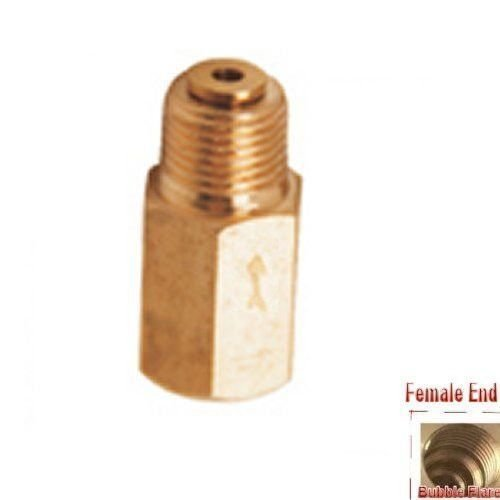 Pipe Check Valve 1/16' NPT Female to 1/8' NPT Male One Way Fitting Air Gas Fuel Dynapex