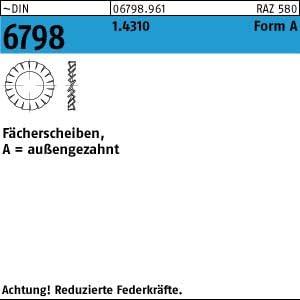 F/ächerscheiben M8 DIN 6798 Form A VA