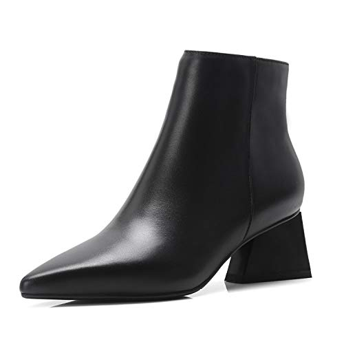 pour Talon Plat Black Bottines à Pointu à Bout Femme 5wxqBYqET