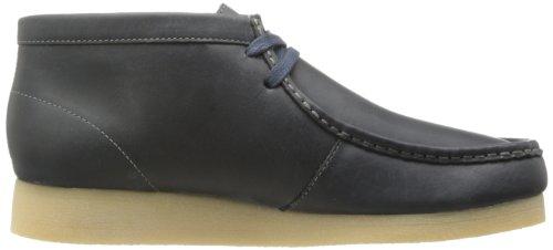 Clarks Mens Stinson Hi Chukka Boots Navy Nubuck