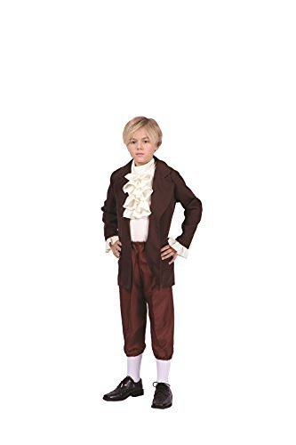Thomas Jefferson-Child Costume (Child, Brown and Beige) (Colonial Day Costumes)