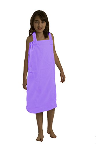 byLora Terry Wraps for Girl, Large Size, Lavender Color