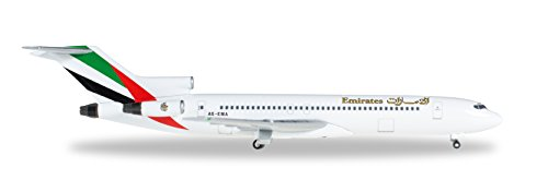 HE526968 Herpa Wings Emirates 727-200 1:500 Model Airplane