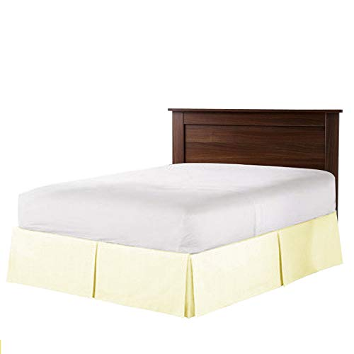 Hotel Luxury Collection 1800 Series 24 Inch Drop Length (Queen, Ivory) Bed Skirt with Box Pleats and Split Corners - Brushed Microfiber Wrinkle & Fade Resistant By Universal Bedding ()