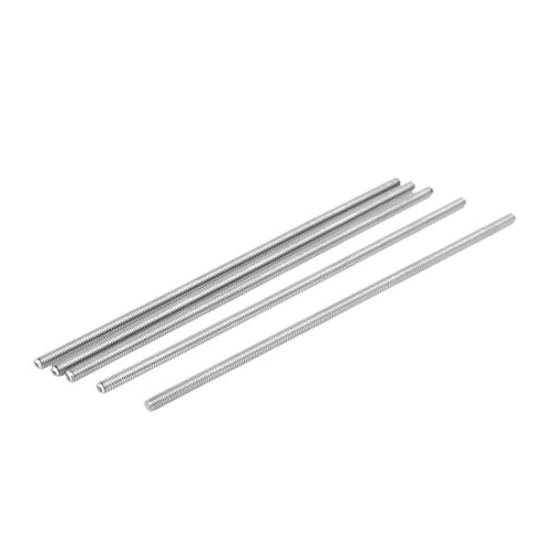 Uxcell a16071500ux0081 M4 x 150 mm 304 Stainless Steel Fully Threaded Rod Bar Studs Silver Tone 5 Pcs (Pack of 5)