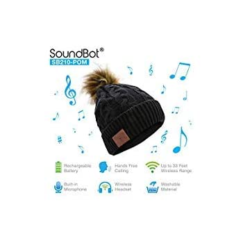 5490df3ed0e SoundBot¨ SB210 HD Stereo Bluetooth 4.1 Wireless Smart Beanie Headset  Musical Knit Headphone Speaker Hat