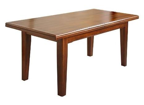 Tavoli Da Pranzo In Legno Allungabili : Tavolo allungabile classico in legno da 160 x 85 a 340 x 85 cm