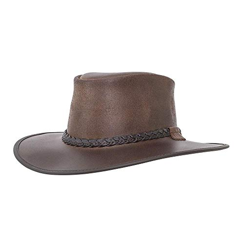 7dec89e086847 American Hat Makers Bravo-Braided Band by American Outback Rugged Leather  Hat, Chestnut -