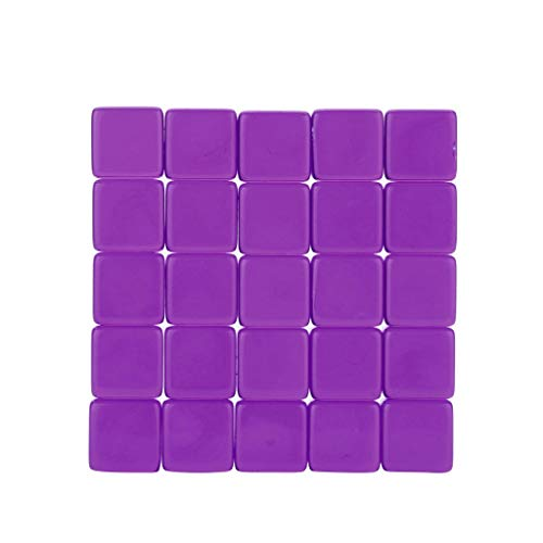 OrchidAmor 25pcs Transparent Dice Acrylic Cube Board Game Kid DIY Fun and Teaching 2019]()