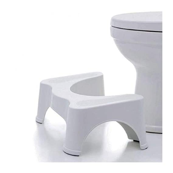 TIED RIBBONS Squat Stool for Western Toilet Squatty Potty Stool for Adults (53 x 20 x 20 cm, Plastic)