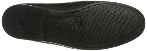Mocasines Negro Hombre Leather para Aston Clarks Black Claude FwXxOfz