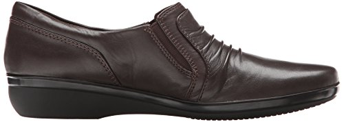 Women's Coda Shoe Brown Clarks Dark Leather Casual Everlay wZdwqv