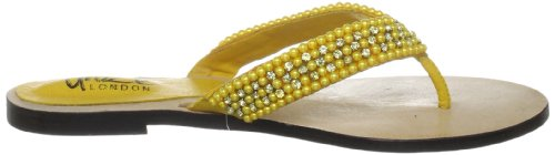 Unze Evening Slippers L18333W - Sandalias para mujer Amarillo