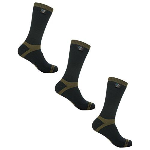 Dexshell Trekking Sock - Olive Stripe - L 3 Pack by DexShell