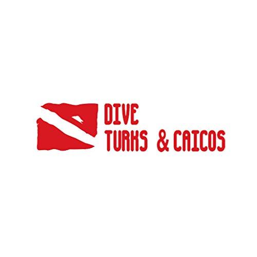 DIVE TURKS & CAICOS Scuba Diving Car Laptop Wall Sticker
