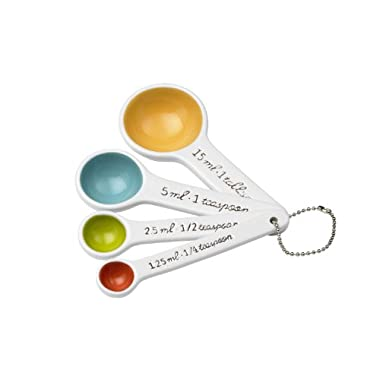 SugarBooger Living Goods Ceramic Measuring Spoon Set, Emma (Discontinued by Manufacturer)