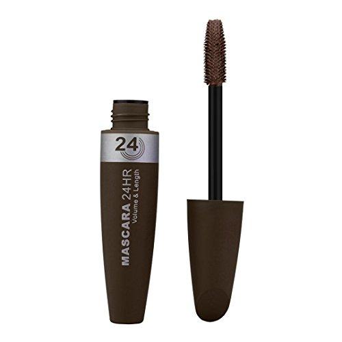 Hosamtel Colorful Fiber Eyelash Mascara Extension Long Curling Makeup Multicolor Black Waterproof Eye Lashes Warm Water Washable Mascara (Coffee#B) -