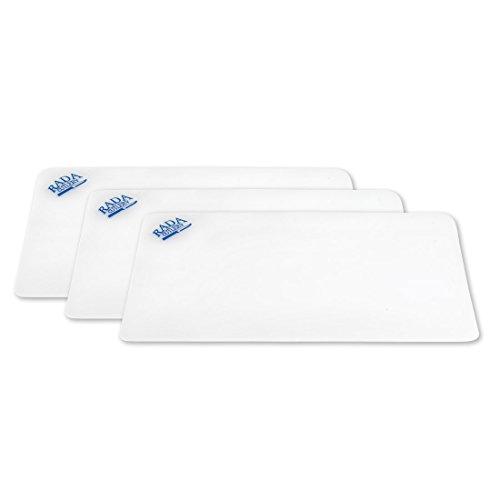 Rada Cutlery CB3 Small Plastic Cutting Flexible Dishwasher Safe Chopping Board, 7 x 10 Inches, White, 3 Pack