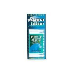 Aqua Filter, Nicotine and Tar Filtered Disposable Cigarette Holders - 10 Ea(pack of 24)