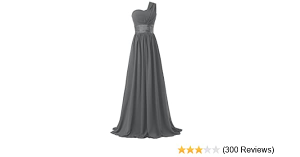 7f7945c35745c Ouman Women's Chiffon One Shoulder Bridesmaids Dresses at Amazon Women's  Clothing store: