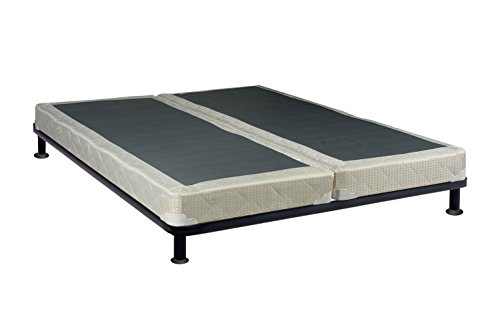 Continental Sleep 4-inch Queen Size Assembled Split Box Spring For Mattress, Elegant Collection ()