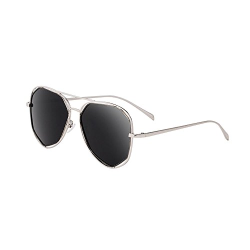 sol Anti Polarizada Luz Color Redonda Negro Larga Vintage Cara Gafas Cara BSNOWF de De UV Pure De Gafas Ojo Mujer black ItZqw5W