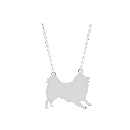 (Animal Dog Necklace Fashion Jewelry Accessories Samoyed Necklace for Women Baby Girls (silver))