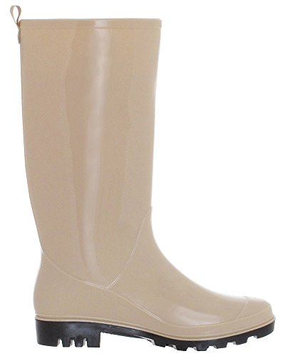 Shiny Jelly Opaque Ladies New Rain York Solid Nude Boot Capelli fvwTqO