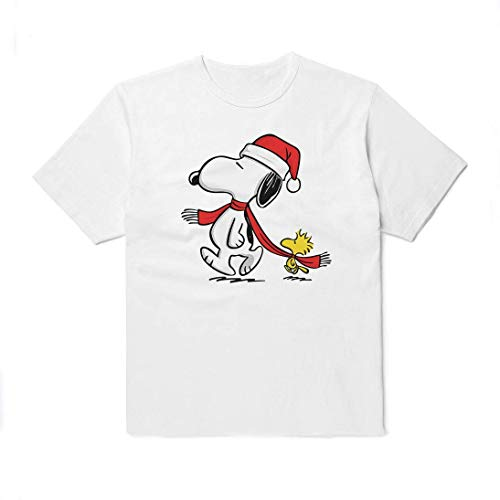 WolfCases Snoopy Shirt Christmas Unisex Cartoon Outfit Black White Colored Clothing Cotton Shirt Peanuts Comics Funny For Women Men Kids Big Print AW3005