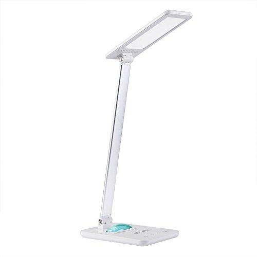 Idealeben 8W LED Schreibtischlampe Tageslicht Augenschutz Leselampe,7 Helligkeitsstufen Dimmbar, Touchfeldbedienung mit Farbwechsel Nachtlicht
