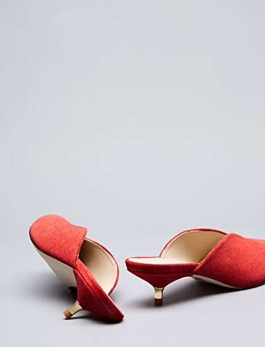 Talons Fermés Rouge Femme red Bouts Petits Find Mules nWva6