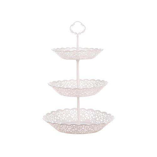 (3-Tier Serving Tray Platters,Appetizer or Dessert Cupcakes Cake Candy Buffet Stand Fruit Plate Centerpiece for Wedding,Home,Multi-Functional Stand for Christmas Birthday Party Serving Platter)