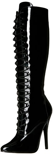 Devious Women's Dom2020/b Boot, Black Patent, 11 M
