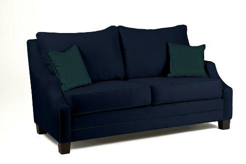 Loni M. Designs Alana Sofa, Blue