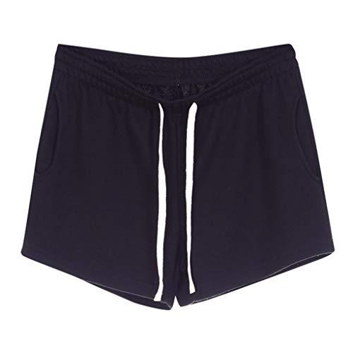 Women Short Pants, JOYFEEL ❤️ Ladies Cotton Linen Casual Elastic Waist Pants Drawstring Solid Summer Walking Shorts - Suit Trousers City