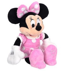 1755ad7e070 Image Unavailable. Image not available for. Color  10 Inch Pink Minnie  Mouse Plush ...