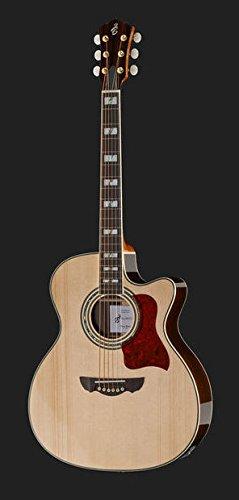Guitarra Acústica Amplificada Jumbo la Harley CLJ5: Amazon.es ...