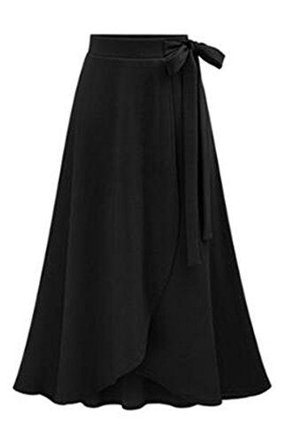 Nouvelles Femme Haute Noir Bande Genou Grand Taille Jupon A et de Grande Hanche Femme Lie Jupe et pour The Line Jupe Sac Jupe OMUUTR Over Automne de Mince S Tricot Taille Longue t Matriau wXqtAxa