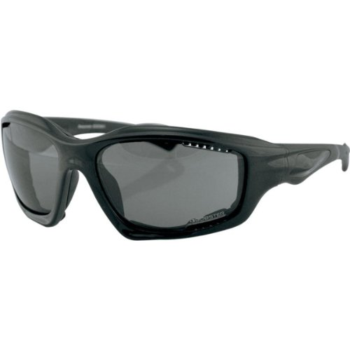 Bobster Desperado Adult Designer Motorcycle Sunglasses/Eyewear - Black/Smoke / One Size Fits All