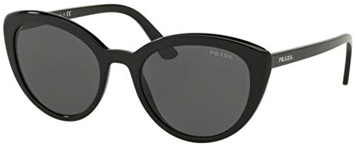 Prada Women's PR 02VS Ultravox Cat Eye Sunglasses, Black, One Size (Prada Pr)