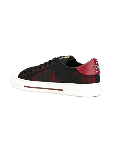 VALENTINO-GARAVANI-MENS-LY0S0897NYSN05-RED-FABRIC-SNEAKERS
