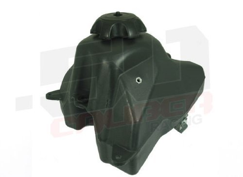 50 Caliber Racing Replacement Gas Tank for Honda CRF50, XR50 and Chinese Pit Bikes 50cc 100cc 125cc - Black Plastic with Cap and Petcock Valve Included - Fast USA Shipping [2304]