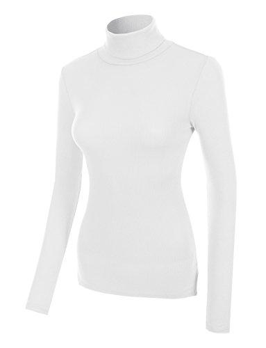 White Cotton Turtleneck - 5