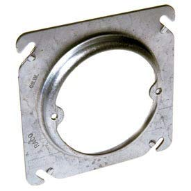 Hubbell 767 4'' Square Box Fixture Cover, Raised 1/2'', Ears 2-3/4'' O.C. - Pkg Qty 25 (767) by Raco