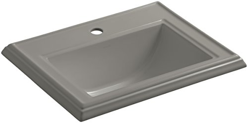 KOHLER K-2241-1-K4 Memoirs Classic Drop-In Bathroom Sink with Single Faucet Hole, Cashmere