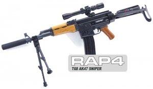 Amazon Com T68 Ak47 Sniper Paintball Gun Magazine Fed Sniper