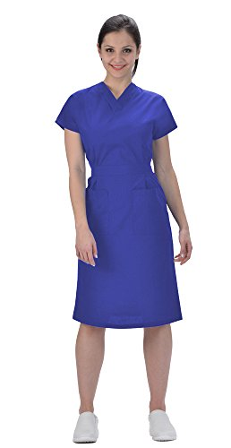 Avida Women's Classic Scrub Dress XS Royal Blue