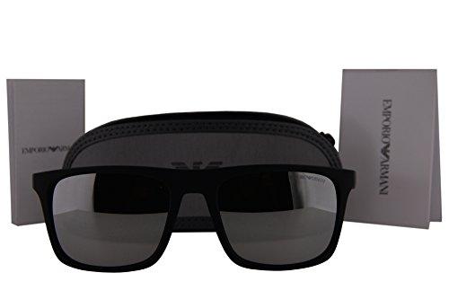 52ceb9f93a14 Emporio Armani EA4097 Sunglasses Matte Black w Polarized Gray Mirror Silver  Lens 5042Z3 EA 4097 - Buy Online in Kuwait.