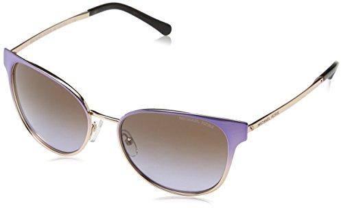 Michael Kors Women's Tia 0MK1022 54mm Lavender Gradient/Rose Gold Tone/Brown/Purple Gradient - Michael Kors Purple Sunglasses